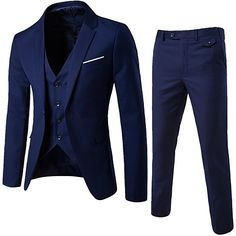 Men's Going out Casual/Daily Work Street chic Spring Fall Suit,Solid Notch Lapel Long Sleeve Regular Cotton Acrylic 2017 - $65.09