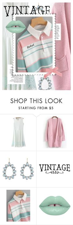 """""""Vintage Pastels featuring ROMWE.com"""" by cultofsharon ❤ liked on Polyvore featuring Larkspur & Hawk, Bela, Lime Crime and vintage"""