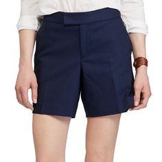 Petite Chaps Stretchy Cotton Shorts, Women's, Size: 16 Petite, Blue (Navy)