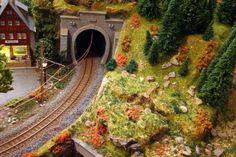 Maqueta Suiza H0m (ferrocarriles réticos o RhB).