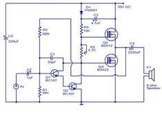 10 Watts Mosfet Audio Amplifier - schematic