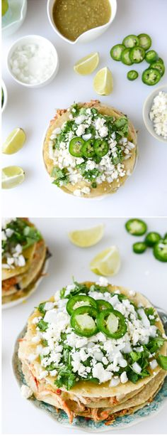 Chipotle Chicken Taco Stacks I howsweeteats.com
