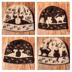 Herding Cats Double Knit Hat by Karen Buhr