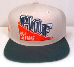 Men HALL OF FAME HOF SNAPBACK 2nd Sucks Beige/Green/Orange Miami Hurricane Color #HallofFame #BaseballCap