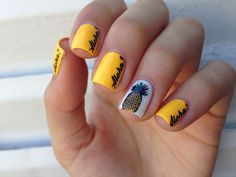 Pineapple nail art cute perfect for summer