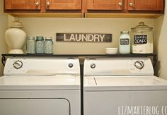 No link - shelf right above washer - a must!!!