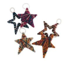 Lion Brand® Bonbons Wrapped Star Ornaments