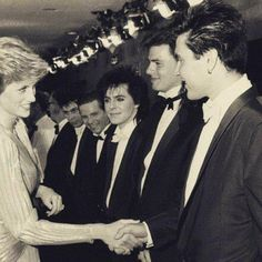 Thirty years ago today on the 12th June 1985, Princess Diana met Duran Duran @007 'A View To A Kill' UK premiere!