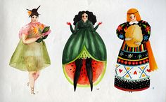 Fruit and vegetable alphabet - This series from Romainian artist Aitch depicts the alphabet in a way we've never witnessed before - by turning the letters into women as vegetables and fruit. Entitled 'Girlyveggiefruit', the illustrations are astonishingly beautiful and weirdly enticing.