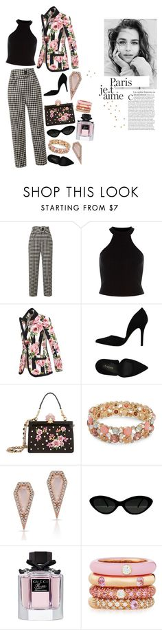 """""""0.00.100"""" by estrellica ❤ liked on Polyvore featuring Petar Petrov, Dolce&Gabbana, PrimaDonna, Design Lab, Anne Sisteron, Gucci, Adolfo Courrier and polyvoreeditorial"""