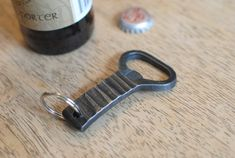 Forged Bottle Opener Church Key Bottle Opener by PhoenixHandcraft