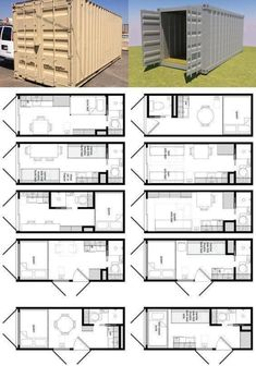 24 Ideas container house plans design layout for Shipping Container Home Designs And Plans - Container . Storage Container Homes, Building A Container Home, Building A Tiny House, Tiny House Cabin, Container Design, Tiny House Plans, Tiny House Design, House Floor Plans, Container Home Plans
