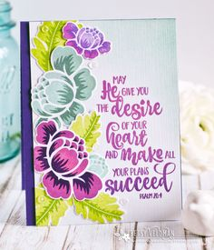 Throwback Thursday: Rosie Posie -   Desire Of Your Heart Card by Betsy Veldman for Papertrey Ink (May 2017)