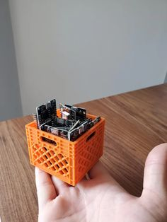 Printed a little milk crate to hold my Arduino boards 3d Printer Designs, 3d Printer Projects, Cnc Projects, Diy 3d Drucker, Useful 3d Prints, 3d Printer Models, 3d Printed Objects, 3d Printing Diy, Milk Crates