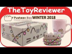 Winter 2018 Pusheen the Cat Subscription Box Exclusive Plush Unboxing Toy Review by TheToyReviewer - YouTube
