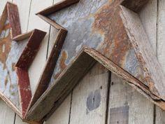 Holiday Christmas Star Metal and barn wood handmade home decor
