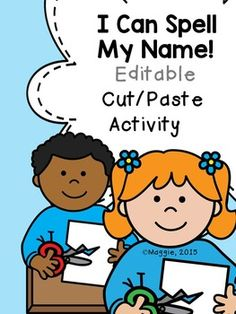 This set includes a template for boys or girls (I included ten pages for each just to make it easier to print a class set).  Just type the child's name in the tiles at the bottom of the pages for each student, then print.  Students cut the tiles off the bottom and arrange to spell their name above the picture.