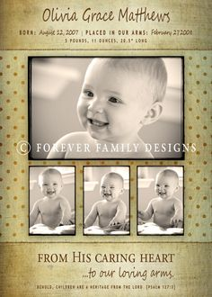 another baby announcement idea - forever family designs