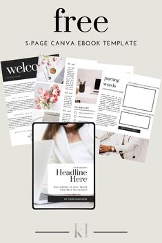 Download this gorgeous free 5-page Canva eBook template and create a stunning eBook for your readers or audience. Plus, after you get it, you'll receive a special discounted offer to get the entire collection. #free #ebooktemplate #canvatemplate #templates Blog Design, Web Design, Design Lab, Make Money Blogging, Make Money Online, Tips Instagram, Book Launch, Free Ebooks, Crown Template