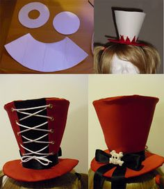 The Southern Oracle: Harley Quinn - Process Mad Hatter Party, Mad Hatter Tea, Fete Halloween, Halloween Crafts, Alice In Wonderland Costume, Cosplay Diy, Cosplay Ideas, Harley Quinn Cosplay, Diy Hat