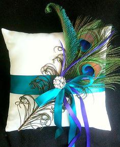Peacock Ring Pillow