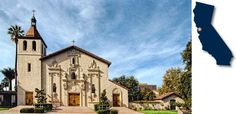 Mission Santa Clara de Asís * the first California mission to honor a female saint * site of the first college, and the oldest university in California, founded in 1851. #CalifasMissions