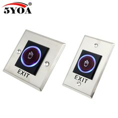 Infrared Sensor Switch No Touch Contactless Door Release Exit Button with LED Indication Belize, Sri Lanka, Maldives, Mauritius, Cook Islands, Guinea Bissau, Seychelles, Montenegro, Sierra Leone