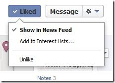 Create a facebook fan page list so that you can keep your pages handy to find!