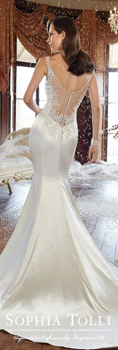 The Sophia Tolli Fall 2015 Wedding Dress Collection - Style No. Y21510 sophiatolli.com #weddingdresses #weddinggowns