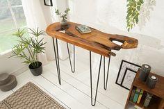 Dizajnová konzola z masívneho dreva 95cm. Filigranes Design, Outdoor Furniture, Outdoor Decor, Form, Home Decor, Products, Environment, Glamour, Apartment Interior