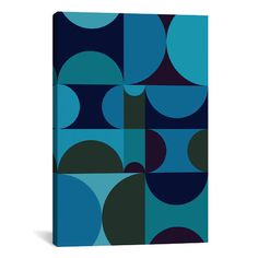 Mercury Row Radia II Graphic Art on Wrapped Canvas Size: