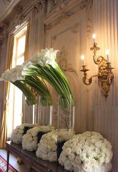 Parisian Chic by Jeff Leatham - Meijer Roses Wedding Reception Backdrop, Wedding Centerpieces, Wedding Decorations, Vintage Flower Arrangements, Vase Arrangements, Jeff Leatham, Hotel Flowers, Montreal Botanical Garden, Flower Garden Design