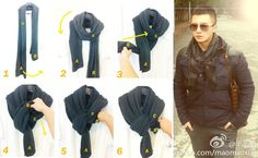 wearing scarves | VIDEO: Scarf Tutorial – 12 Different Ways to Wear a Scarf