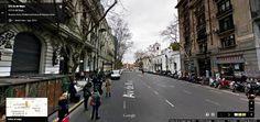 Buenos Aires Google Street View 06 La Avenida de Mayo, con el Cabildo a la derecha y la Casa Rosada al fondo, en el centro de Buenos Aires