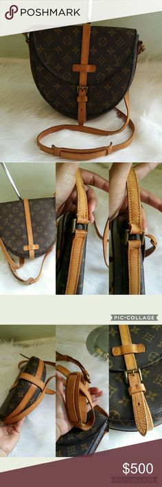 AUTH Vintage Louis Vuitton Chantilly MM Made in France,  date code reads VI 0920, canvas is great no crack,  inside is great no sticky no peeled,  strap is show light wear and little dry but still in very good condition,  buckle strap is wear and dry ( see pictures  )  strap have few small water stain but nothing major,  Please check all photos carefully, overall she is in good use conditions and lots of life left,  no dust bag,  everything above $500 free authentication from posh so buy it…
