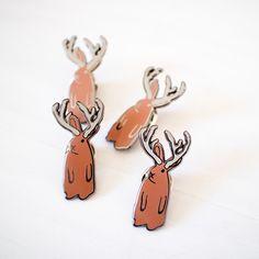 Jackalope pin - enamel pin - lapel pin - animal pin - rabbit pin - bear gift - enamel jewellery - animal gift - pin game - flair game by finestimaginary on Etsy https://www.etsy.com/listing/271296400/jackalope-pin-enamel-pin-lapel-pin