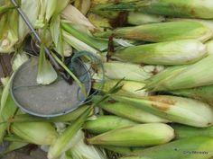 Corn & scale.  Fuli Town Market, Guangxi, China