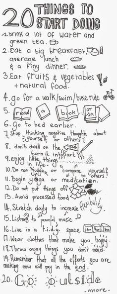 20 things to start doing ...