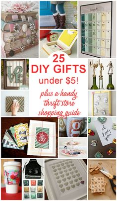 Get ready to DIY! 25 DIY Gifts Under $5: Plus a handy thrift store shopping guide