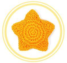 Estrella tridimensional o puffy de Crochet
