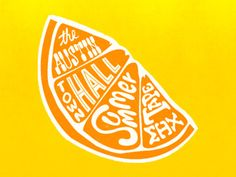 Austin Town Hall Lettering - orange design
