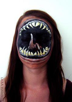 Les body painting macabres de Lara Hawker   body painting macabre de lara hawker 2