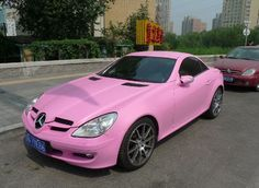 awesome Pink Cars: Pink Mercedes SLK - Awesome Girly Cars & Girly Stuff! My Pink Board