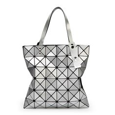 64d2be5ab9 Aliexpress.com   Buy New Baobao Women Pearl Laser Sac Bags Diamond Lattice  Tote 6 6 Geometry Quilted Shoulder Crossbody Bag Folded Handbags with Logo  from ...