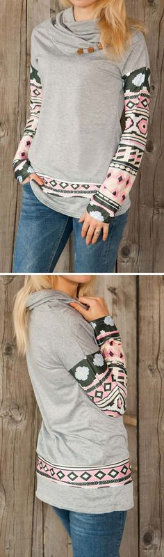 Wanna be an outstanding chic girl? Here is the piece for you. Stop wandering around! Run Wild Top features aztec printing splicing and casual style. Amazing price at CUPSHE.COM !
