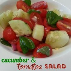 3 Day Refresh Recipes: Cucumber & Tomato Salad. Get MORE recipes here!
