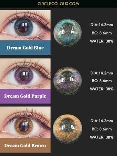 - Coloured Contacts Online丨Circle Lenses丨Cosmetic Lenses - See The Colorful World Blue Dia, Change Your Eye Color, Circle Lenses, Natural Eyes, Colored Contacts, Beauty Room, Purple Gold, Beautiful Eyes, Hair And Nails