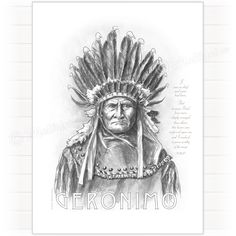 Geronimo chief, poster plakat
