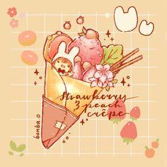 Cute Food Drawings, Art Drawings, Cute Screen Savers, Food Sketch, Kawaii Illustration, Matching Icons, Aesthetic Art, Cute Art, Strawberry