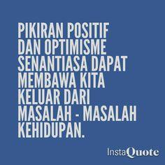 Pikiran positif dan optimisme...